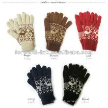 100% guantes de cachemira de moda