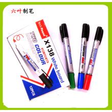 Two Head Whiteboard Marker Pen (X-138) , Double Head Dry Eraser Pen