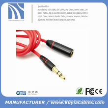 RED Headphone Earphone Extension Cable Audio Adapter 2Ring 3.5mm Male to Female