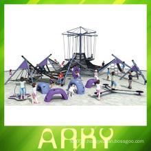Toboggan pour les enfants équipement de jeu principal de la corde extérieure série de voiles de surf