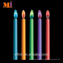 Livraison rapide fantastique Six bougies de flamme multi couleur en stock