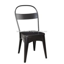 Black iron backrest Bürostuhl