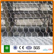 Malha de arame de metal galvanizada por gabião
