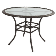 Round Rattan Wicker Garden Outdoor Furniture Patio Table