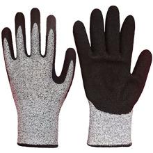 Gants coupés durables de revêtement de nitrile de Sandy résistant à l'eau avec la protection de main coupée du niveau 5