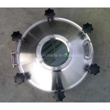 Pressão de aço inoxidável Sight Glass Manhole Cover