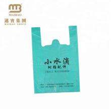 billig PET-HDPE-T-Shirt Plastiktaschen hergestellt in Guangzhou-Fabrik