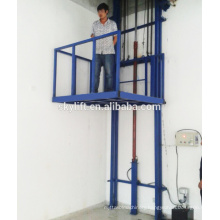 Electric 2 post stationary vertical hydraulic cargo lifts