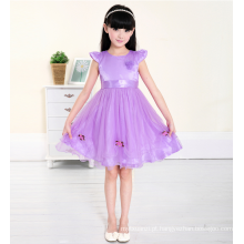 A princesa roxa applqiued veste mangas de boné estilo novos modelos de crianças alibaba fábrica de princesa atacadista ano novo vestuário de festa