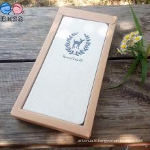 Carnet Hardcover en tissu avec boîte pour cadeau promotionnel