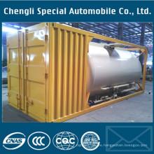 Tanque de contenedor LPG ISO de 20 pies de acero al carbono