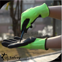 SRSAFETY anti cut glove manufactuerer/made in China/chemical resistant gloves