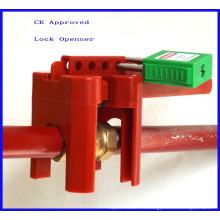 CE aprobado bloqueo de válvula de bola ajustable