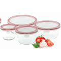 Round Glass Bowl Set for Microwave Oven
