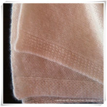 Soft and warm plain knits 100% cashmere blanket