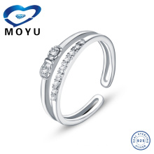 Anillos de diamante baratos de la venta 925 de la joyería de plata caliente para el anillo único de la plata de la boda de las mujeres