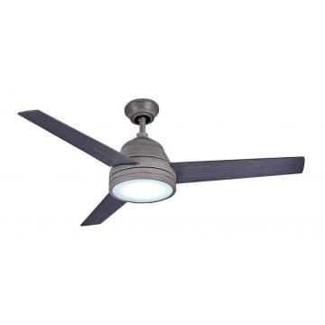 elegante ventilador de teto com controle remoto com LED regulável