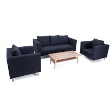 Moderno salón 3 plazas populares sofá de tela conjunto