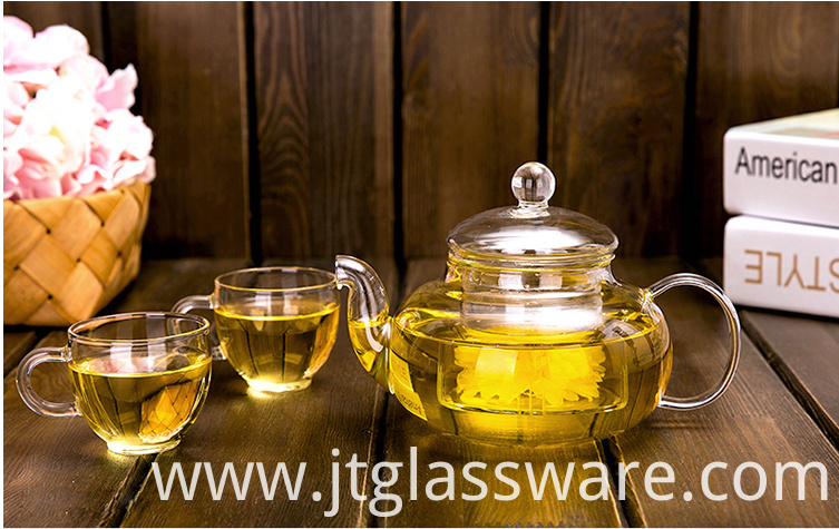 Flower Glass Teapot Set