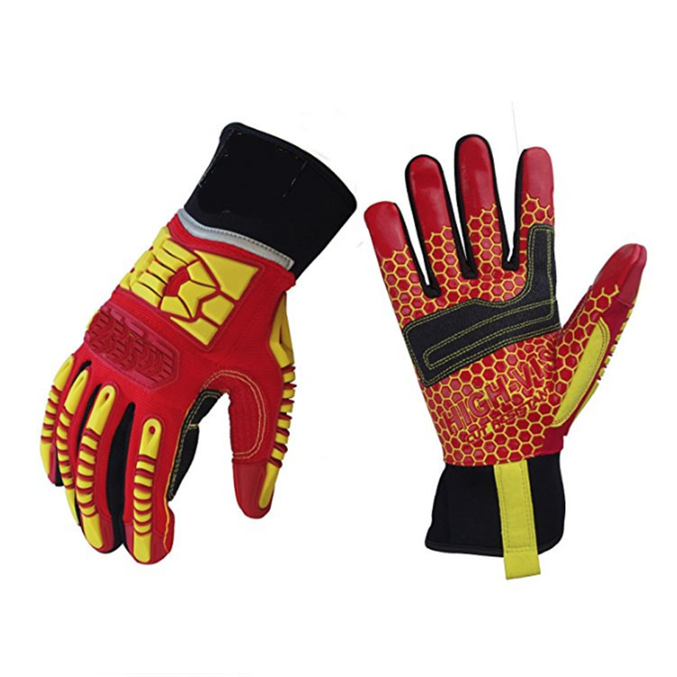 Orange Drilling Machinery Gloves