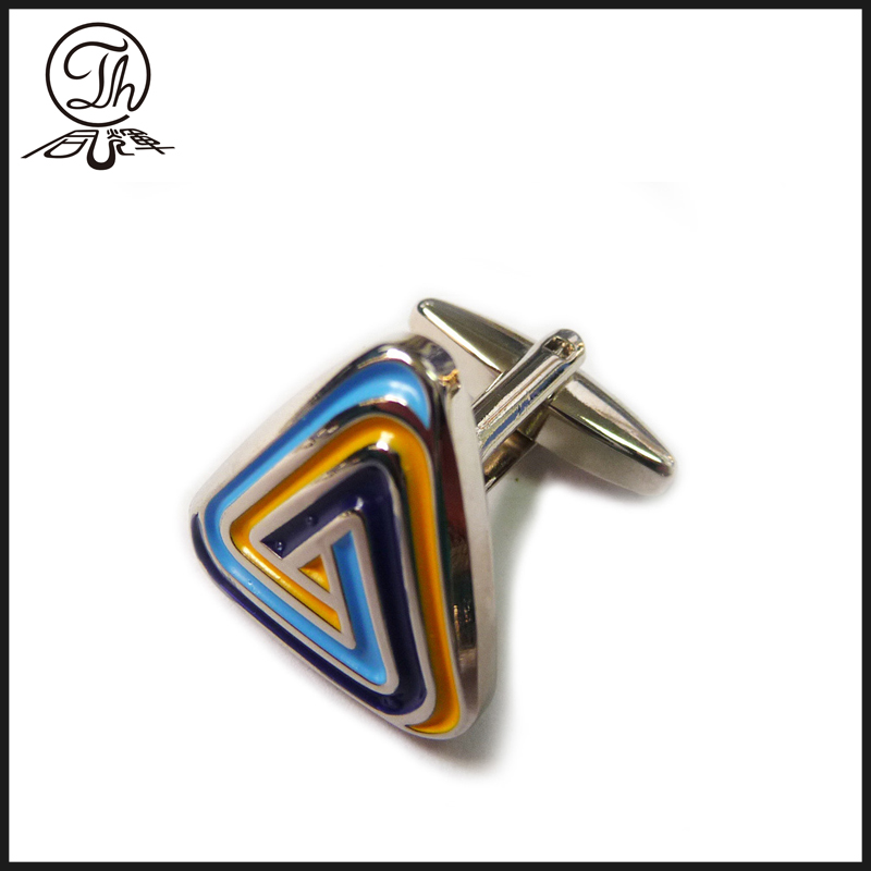 Buy metal painted cufflinks gold online