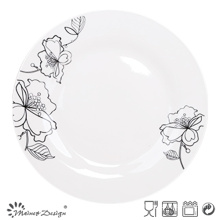 "10.5""Porcelain Dinner Plate with Decal"