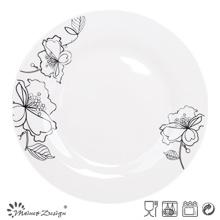 """10,5 """"Prato de Porcelana com Decalque"""