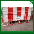 Galvanized steel traffic control barriers
