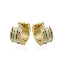 Golddiamant Huggie Creolen, Gold Metall Kreis Ohrring