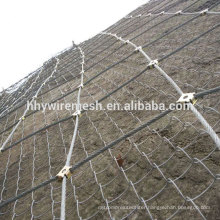 Rope rockfall mesh netting SNS slope protection system rockfall barriers