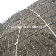 Rede de malha de cascalho de corda Barreiras de queda de rocha de sistema de proteção de inclinação SNS