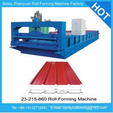 Rodillo de panel de techo que forma la máquina, rollo de metal que forma la máquina, rodillo de la hoja de la azotea que forma la máquina