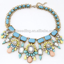 Fashion alloy handmade statement necklace