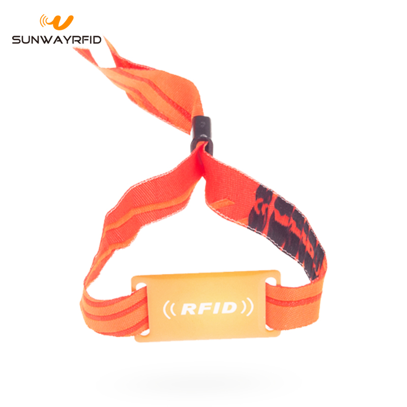 ntag213 Fabric RFID Wristband for Music Festival Ticket 2
