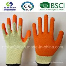 10g de poliéster Shell látex recubierto guante de trabajo de seguridad (R501)
