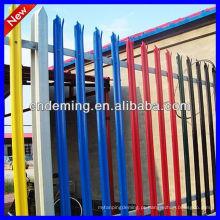 Venda quente ISO 9001: 2008 multicolorida aço paliçada esgrima