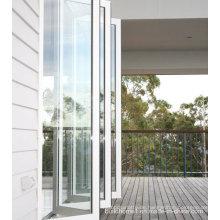 Gehärtetes Glas Schiebe-Falt-Aluminium-Türen Preise