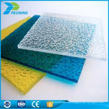 10 años de garantía de 8 mm de una sola pared reciclado de policarbonato