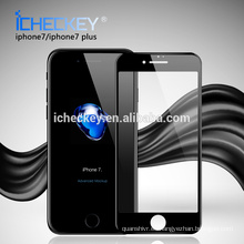 La venta caliente 0.3mm 3D curvó el protector móvil moderado cobertura total del protector de cristal de la pantalla para Iphone7
