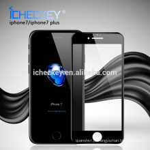 Venda quente 0.3mm 3D cobertura curvada cobertura de vidro temperado protetor de tela móvel guarda para Iphone7