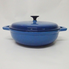 Cast Iron Round Shallow Casserole