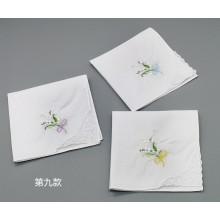 Fleur blanche mouchoir broderie dames dentelle