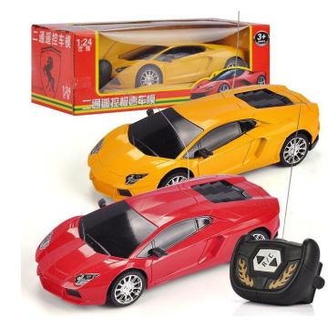Laferrari / Lamborghini modelo 1: 24 juguetes de coches de control remoto regalo de los niños