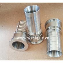 Tubo de montagem de aço inoxidável Peças da máquina CNC Mangueira Nipple