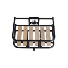 with Beechwood Plate Steel Bicycle Front Carrier for Bike (HCR-128)