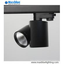 Proyector de pista LED controlable de 2/3 fases regulable