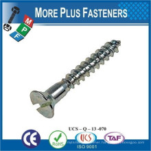 Made in Taiwan Flat Head Crossed Recessed or Slotted Wood Dock Screw