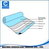 Self adhesive bitumen membrane with glass fiber mesh