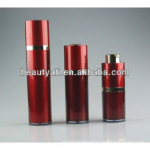 Vermelho Acrílico garrafa cosmética sem ar