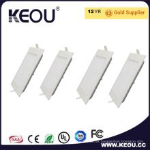 3W LED techo empotrado delgado panel cuadrado luz CRI80